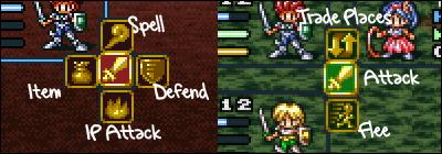 Lufia 2: The Rise of the Sinistrals battle screenshot