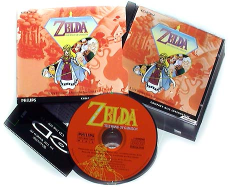 Zelda: The Wand of Gamelon phillips cd-i cover art