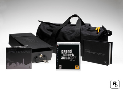 grand theft auto 4 collectors edition duffle bag art book