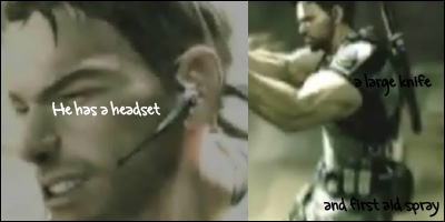 chris redfield headset resident evil