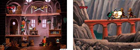 link the faces of evil gameplay screen shot