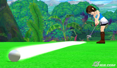 jill valentine wii love golf