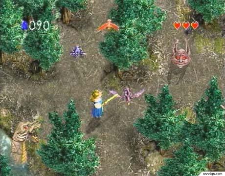 zelda's adventure phillips cd-i gameplay screen shot