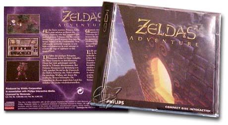 zelda's adventure cd cover phillips cd-i