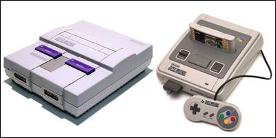 snes japanese and american consoles