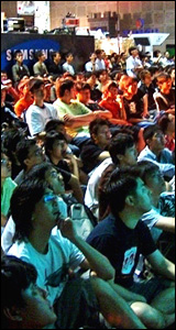 video game crowd