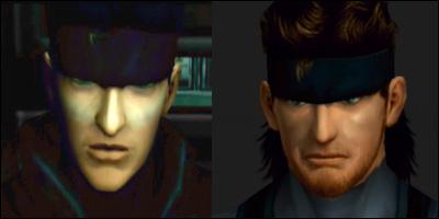 solid snake face model comparison