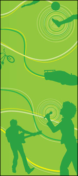 xbox 360 green silhouettes
