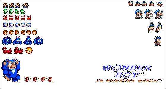 wonder-boy-sprites